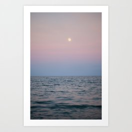 Twilight Beach Moon 2 Art Print