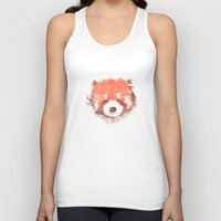 red panda Tank Tops featuring Red Panda by Zach Terrell