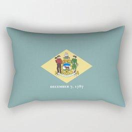 flag delaware,america,usa,Blue Hen,mid-altlantic, Delawarean,Small Wonder,Wilmington,Dover,Newak Rectangular Pillow