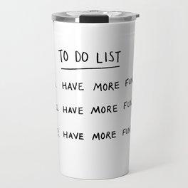To Do List Travel Mug