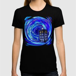 Blue Phone Box with Swirls T-shirt