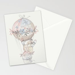 cute rabbit's Stationery Cards