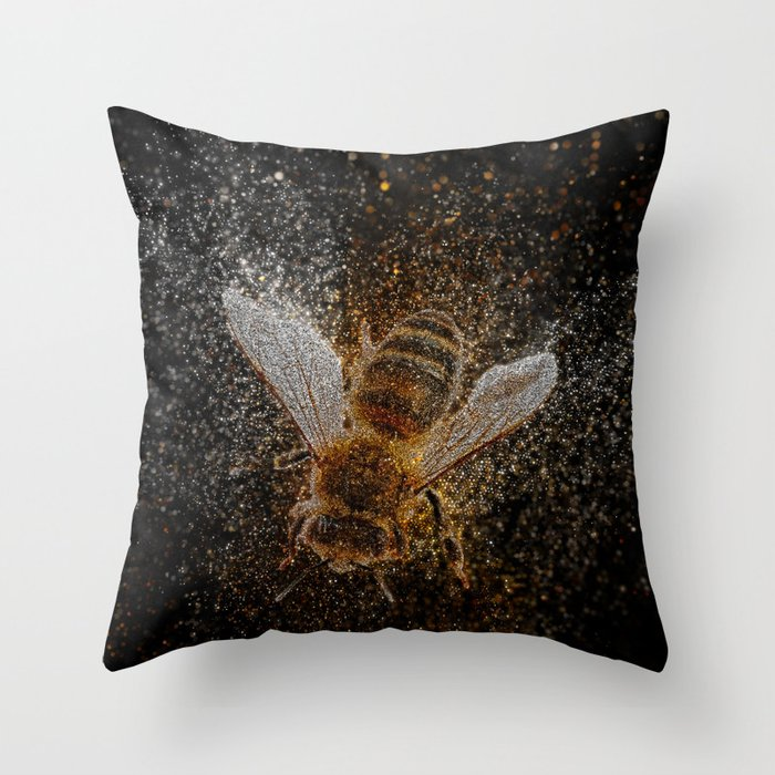 Bees Are Magic Throw Pillow