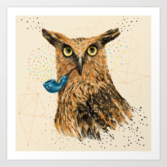 Mr.Owl V Art Print