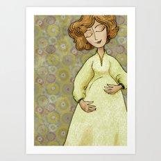 Sarah Expecting Art Print