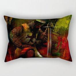 The prayer of the Knight Templar Rectangular Pillow