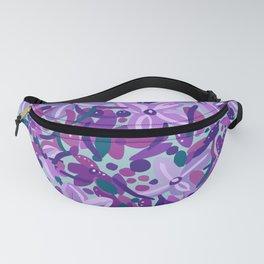 Purple Flower Dance Fanny Pack