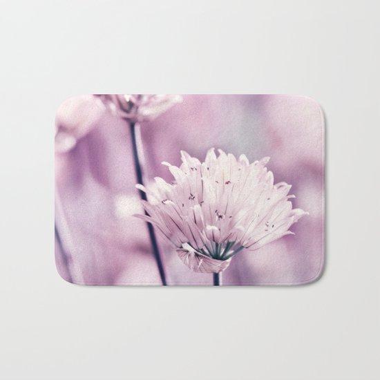 Allium pink macro 257 Bath Mat