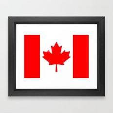 Flag of Canada - Authentic High Quality image Framed Art Print