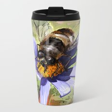 Bee on flower 18 Metal Travel Mug