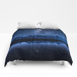 Night mountains Comforters