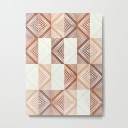 Mudcloth Tiles 02 #society6 #pattern Metal Print