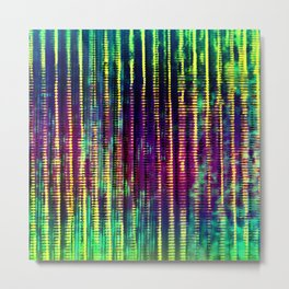 Syntax (Yellow + Green) Metal Print