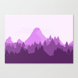 purple range Canvas Print