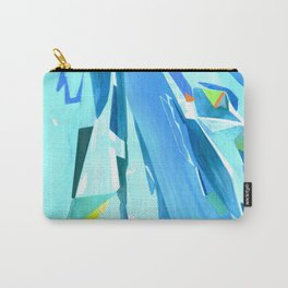 Glass Geometry Light Blue Carry-All Pouch