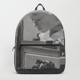 Vintage Painter and His Robot Backpack