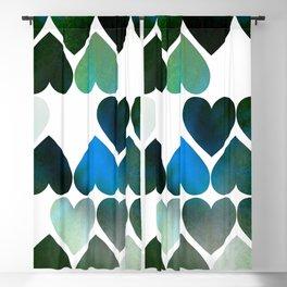 Mod Blue Hearts Blackout Curtain