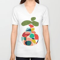 pear V-neck T-shirts featuring Fresh Pear by Picomodi