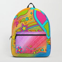 Peace and Love Fifty Years since Woodstock Backpack