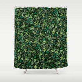 Luck in a Field of Irish Clover Shower Curtain
