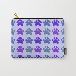 Paw Prints Pattern (Purple) Carry-All Pouch