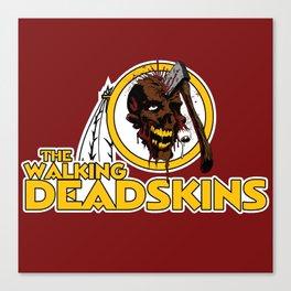 The Walking Deadskins Canvas Print