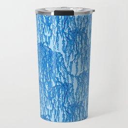 Cascading Wisteria in Blue Travel Mug