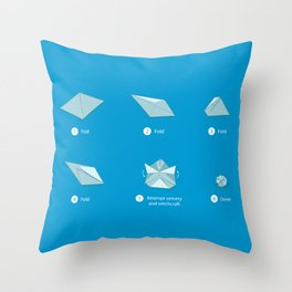 Step-by-step Origami Throw Pillow