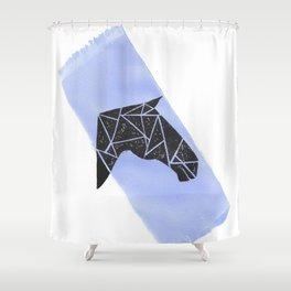 Geometric Horse 2 Shower Curtain
