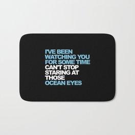 Ocean Eyes   pop music gift   Billie lovers Bath Mat