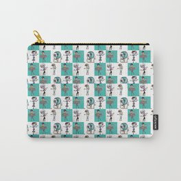 Checkered Mimes Carry-All Pouch