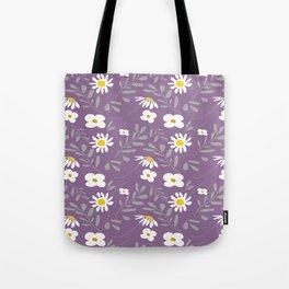 Joyful Folk Floral : Purple Tote Bag