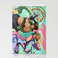 jjba Stationery Cards featuring JoJo & Caesar JJBA Battle Tendency by Lemonade Stand Of Life