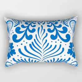 Mexican Folk Floral Ornaments Rectangular Pillow