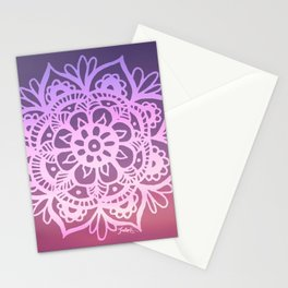 Sunset Sky Mandala Stationery Cards