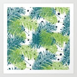 Ferns and Dots Art Print