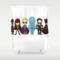 watchmen Shower Curtains featuring watchmen by Space Bat designs