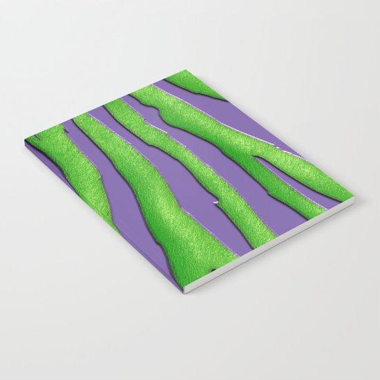 Bright Purple & Green Zebra Print Notebook