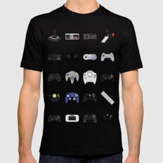 Console Evolution Black Mens Fitted Tee MEDIUM