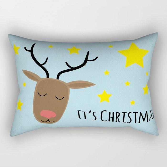 Its Christmas Rectangular Pillow