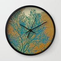 breaking Wall Clocks featuring Weather Breaking by Anne Millbrooke