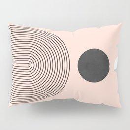 Abstraction_SUN_BLACK_WHITE_POP_ART_Minimalism_001A Pillow Sham