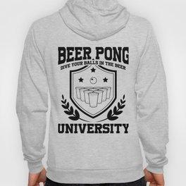 Beer Pong University Drinking Game Mug Gift Hoody