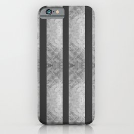 SILVER & BLACK VERTICAL STRIPES  iPhone Case