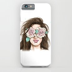 white roses in their eyes (female version) Slim Case iPhone 6s