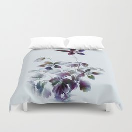 dancing queen columbine painting floral solo vintage drawing Duvet Cover