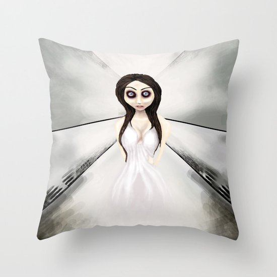 I feel like a ghost. Throw Pillow