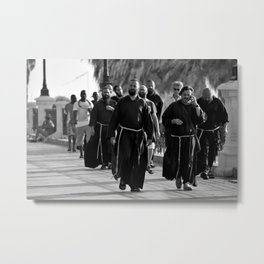 A holy afternoon stroll on the Lungomare of Reggio Calabria, Italy Metal Print