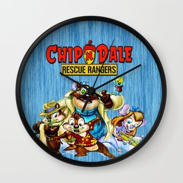 Chip and Dale Team Wall Clock