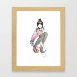 'Socks' Illustration Framed Art Print